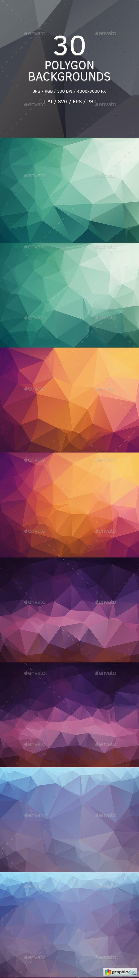 Polygon Backgrounds or Triangle Textures 9164509