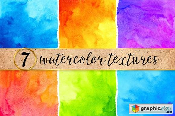7 bright watercolor backgrounds 100846