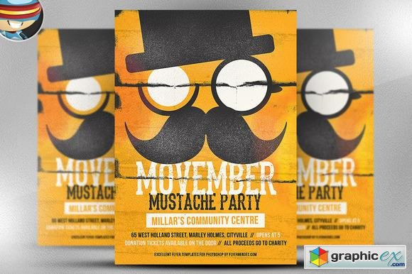 Movember Mustache Party Flyer 92910