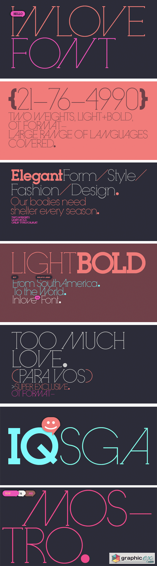 Inlove Font Family - 2 Fonts for $49