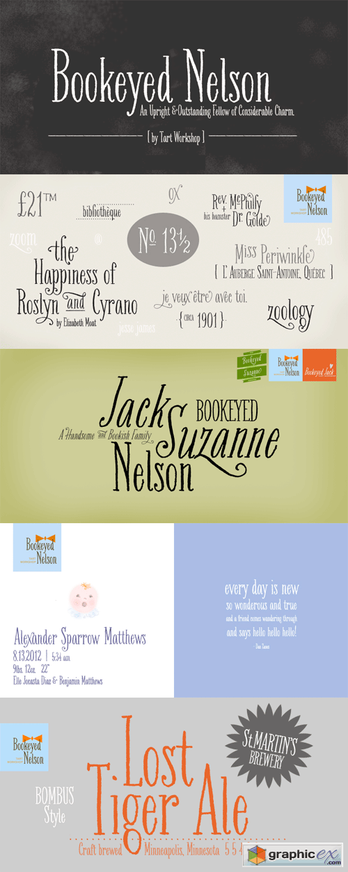 Bookeyed Nelson Font for $30
