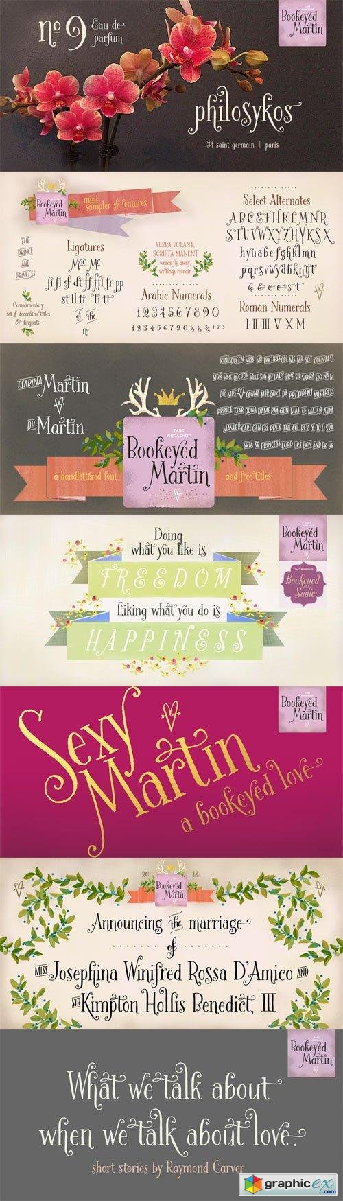 Bookeyed Martin Font Family - 2 Fonts for $30