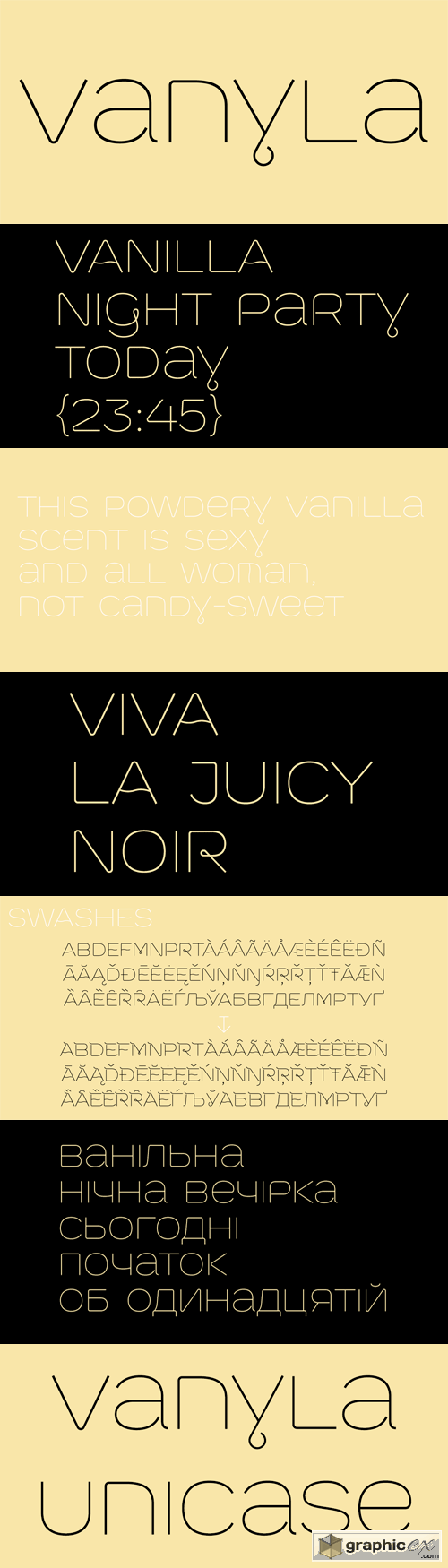 Vanyla 4F Font Family - 2 Fonts for $25