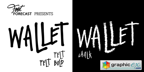 Wallet Font Family - 3 Fonts for $45