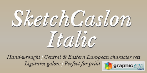 Sketch Caslon Italic Font for $15 » Free Download Vector Stock Image