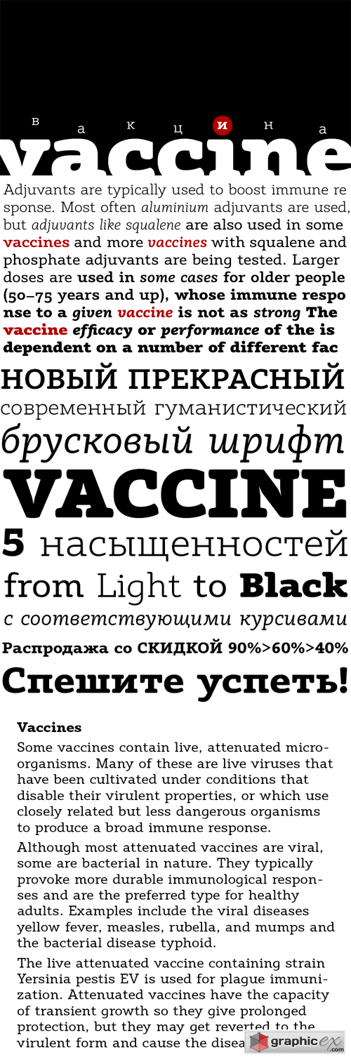 Vaccine Font Family - 10 Fonts for $300