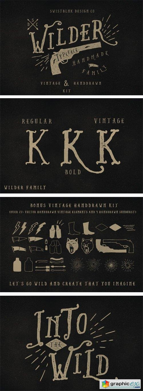 Wilder Font + Bonus Vector for $9