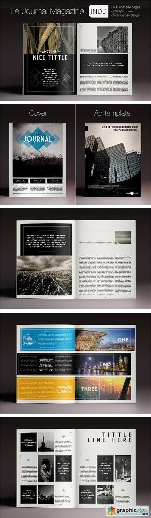 Indesign Template Le Journal Magazine