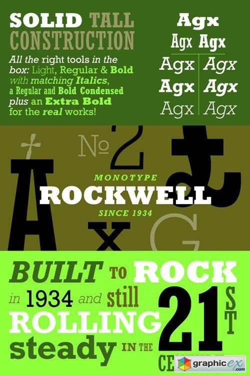 Rockwell Font Family $696