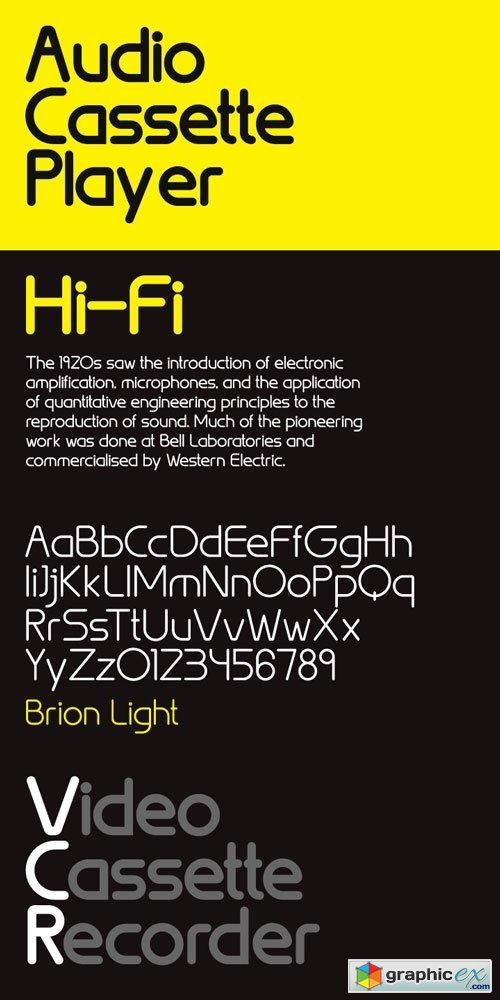 Brion Font Family $69
