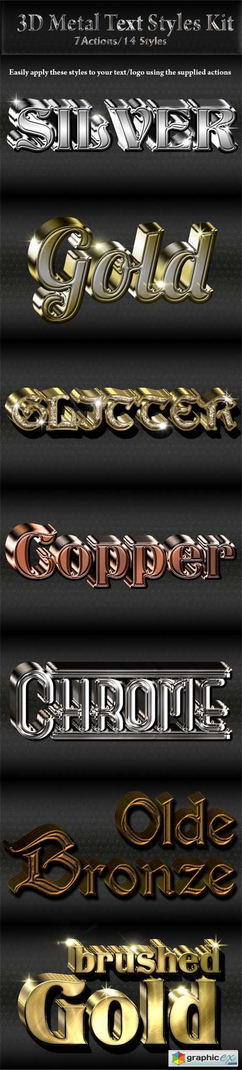 3D Metal Text/Logo Styles Kit 9410770