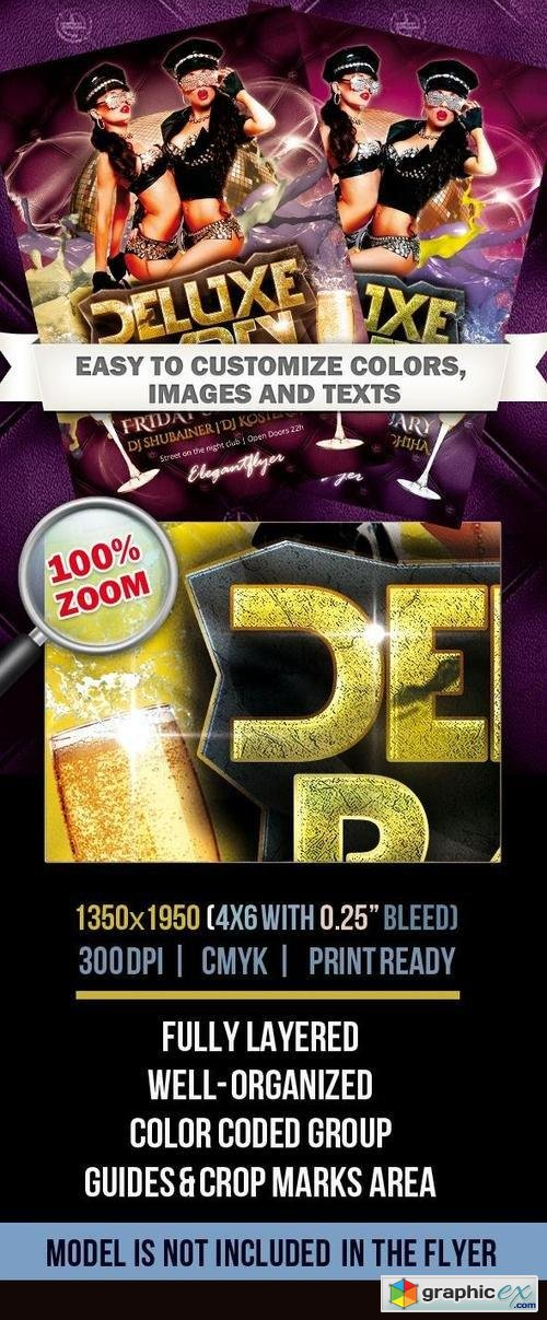Deluxe Party � Club Flyer PSD Template