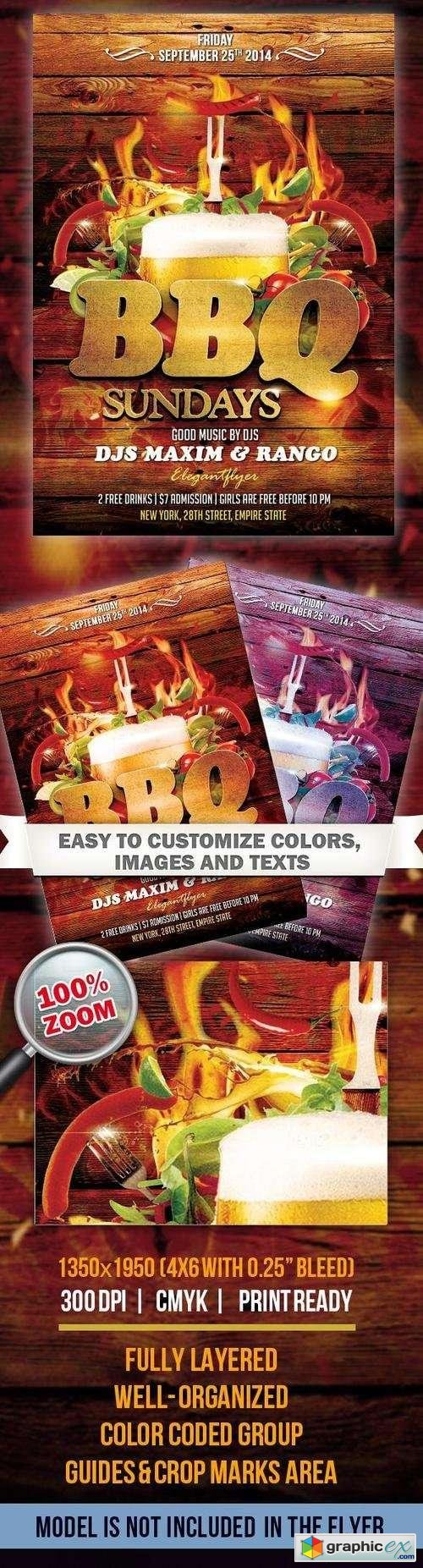 Barbecue(bbq) � Flyer PSD Template