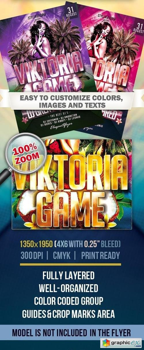 Viktoria Game � Club and Party Flyer PSD Template
