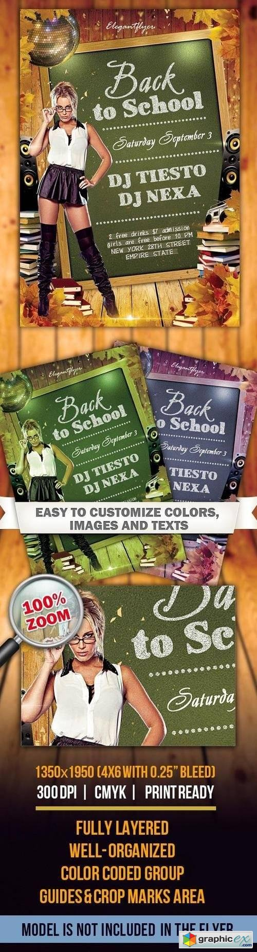 Back to School � Flyer PSD Template