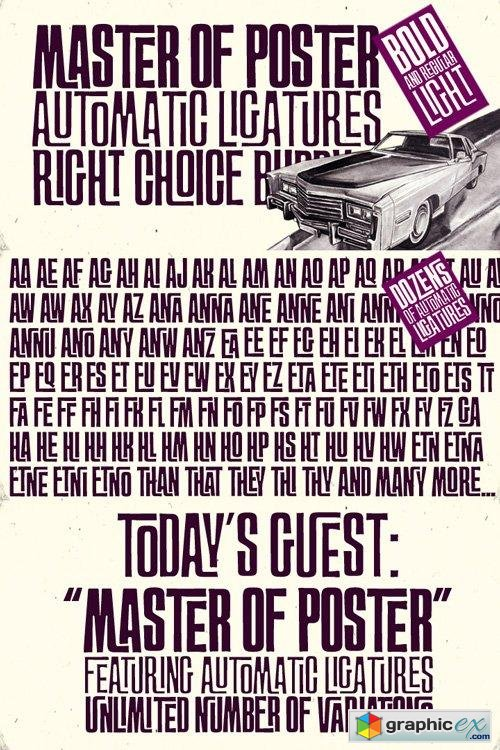 FT Master Of Poster Font Family $39.95
