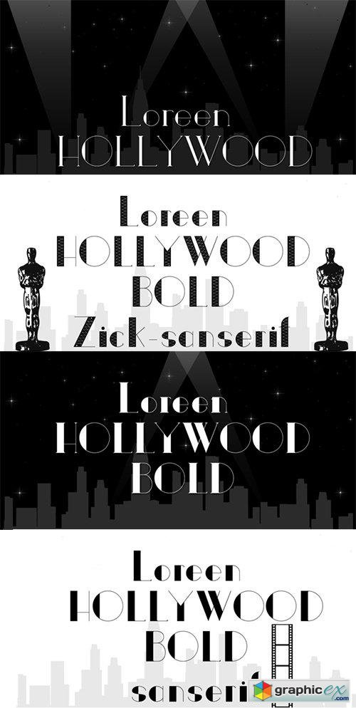 Loreen Hollywood Font Family - 17 Fonts 323$