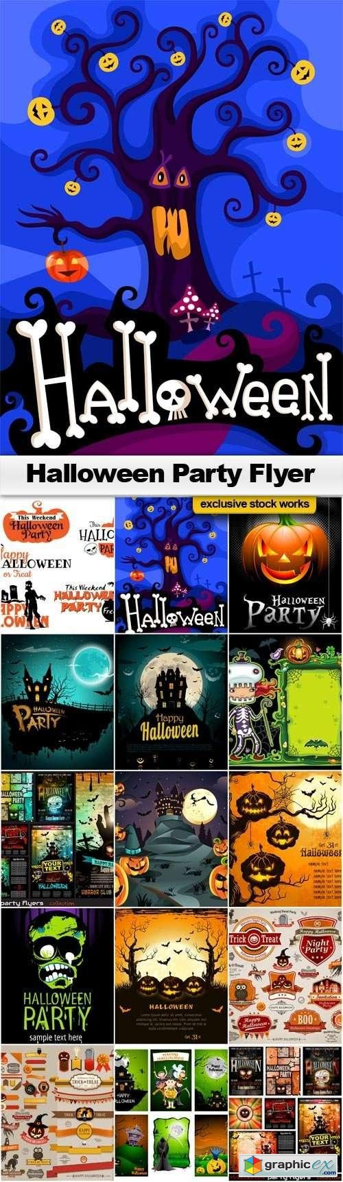 Halloween Party Flyer - 15 EPS