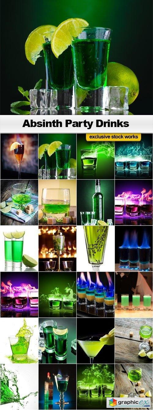 Absinth Party Drinks - 25x JPEGs