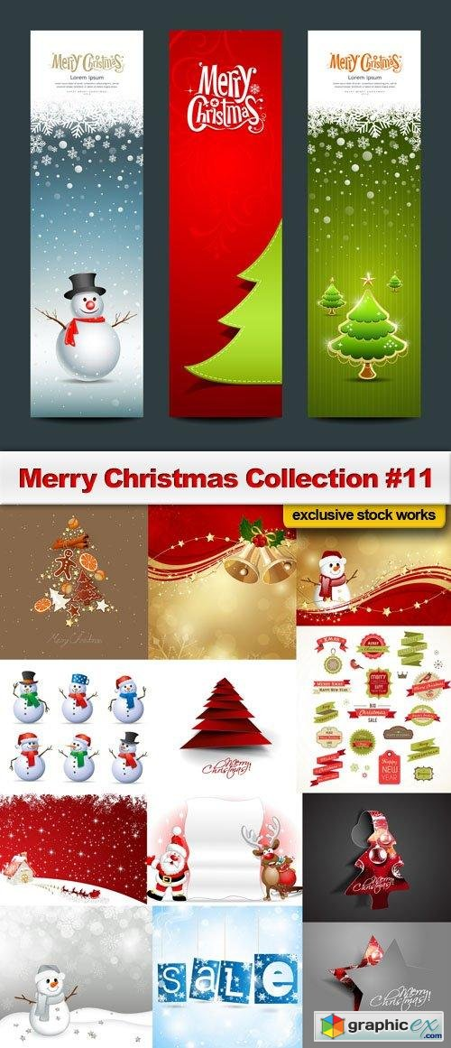 Merry Christmas Collection #11 - 25 EPS, AI