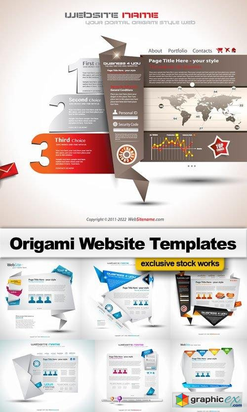 Origami Website Templates 25 Eps Free Download Vector Stock