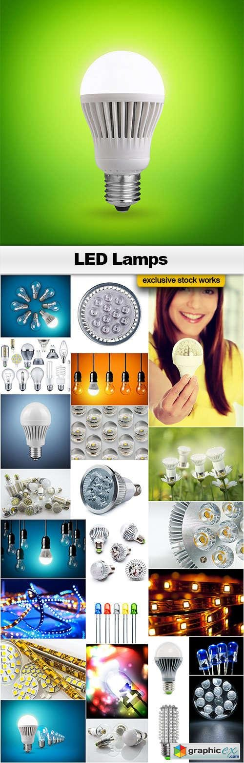 LED Lamps - 25x JPEGs