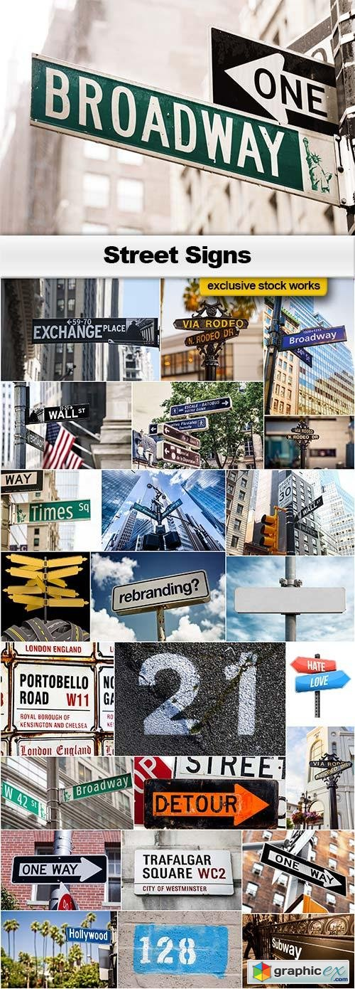 Street Signs - 25x JPEGs
