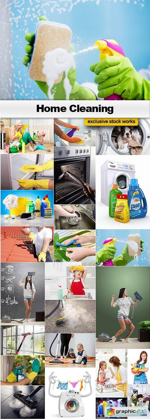 Home Cleaning - 25x JPEGs