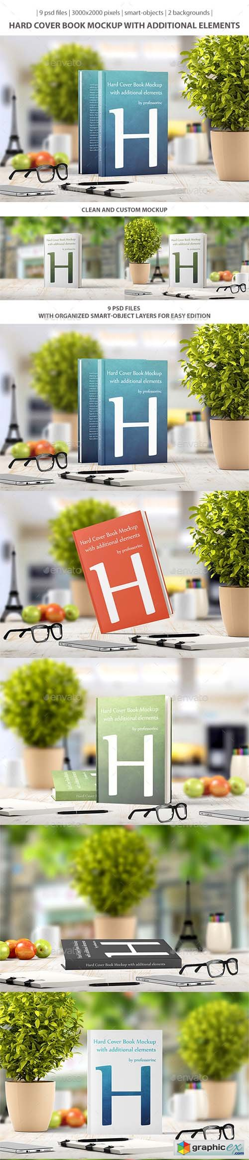 Hard Cover Book Mockup 9435271