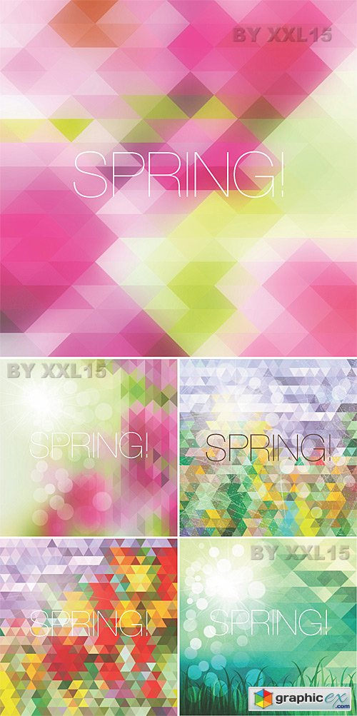 Bright mosaic spring backgrounds