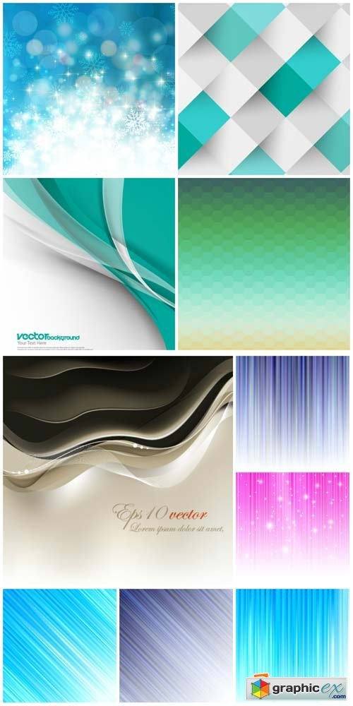 Vector backgrounds with abstraction, backgrounds blue and lilac tones