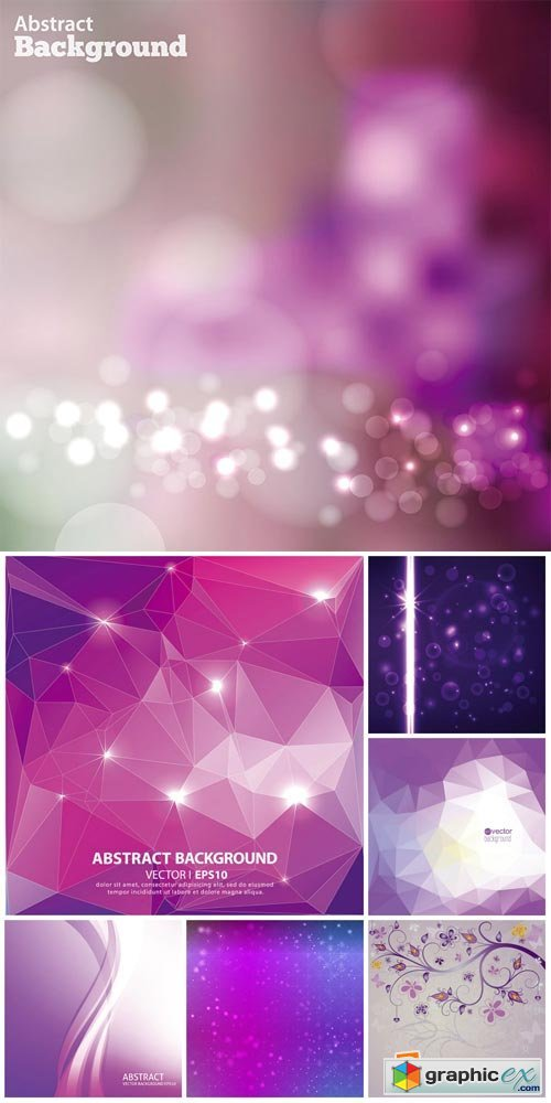 Vector backgrounds with abstraction, backgrounds lilac tones