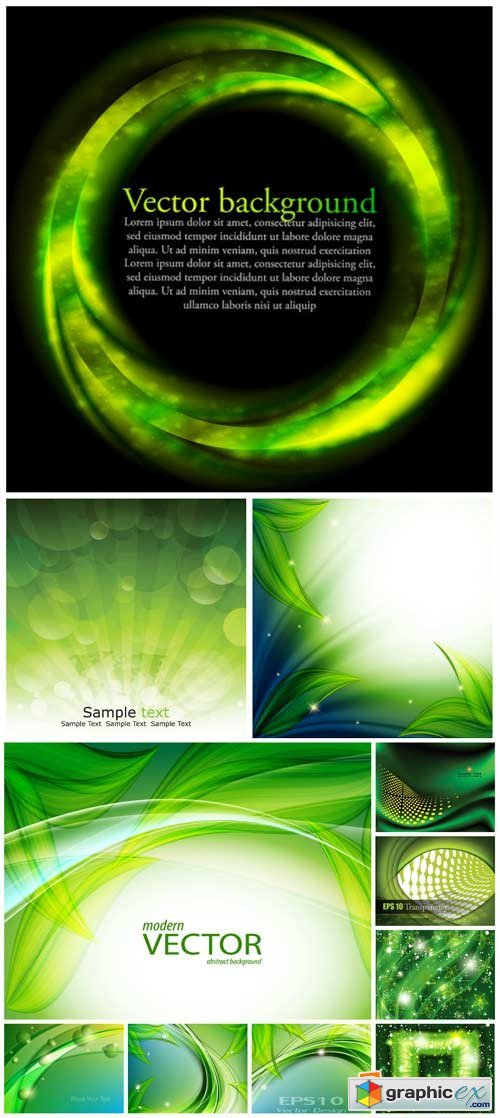 Vector background with green elements, natural backgrounds