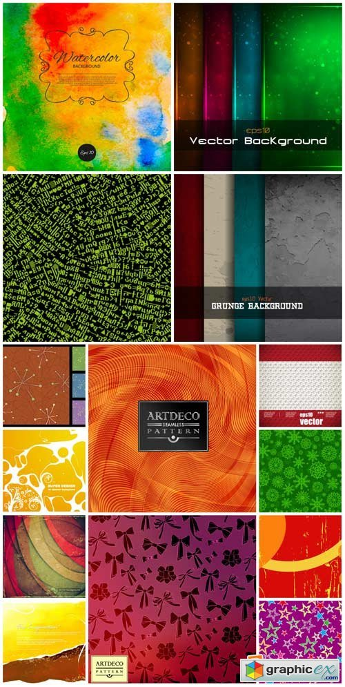 Vector backgrounds with abstraction, vintage backgrounds