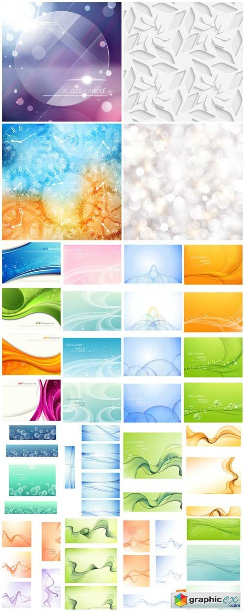 Vector backgrounds with abstraction, backgrounds with air lines
