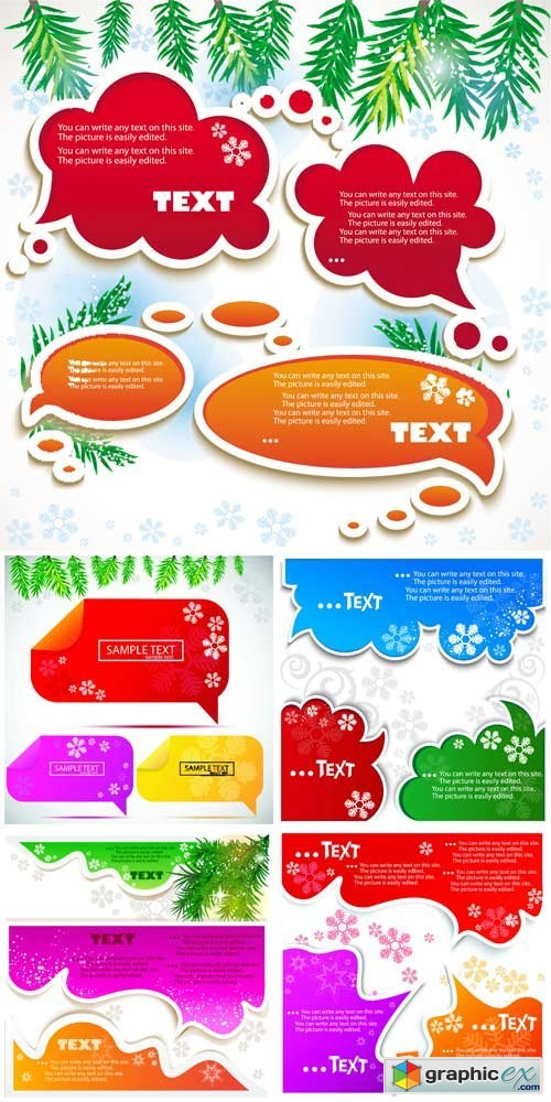 Christmas vector elements for text