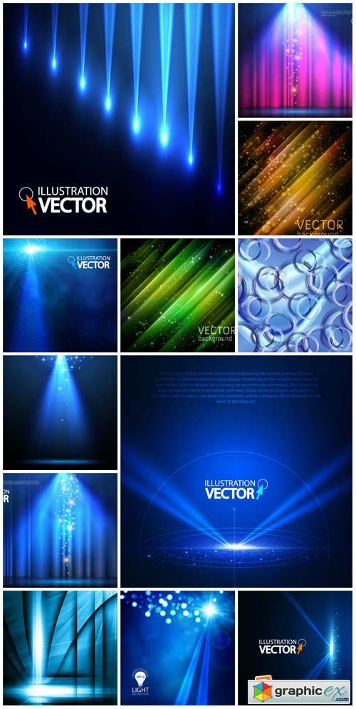 Vector backgrounds with abstraction # 23