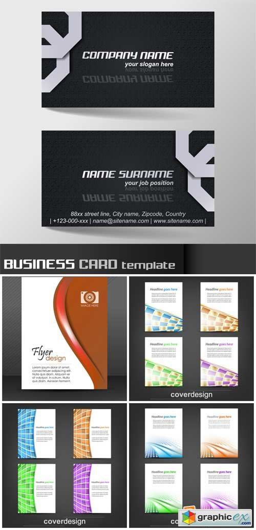 Business cards, abstract vector
