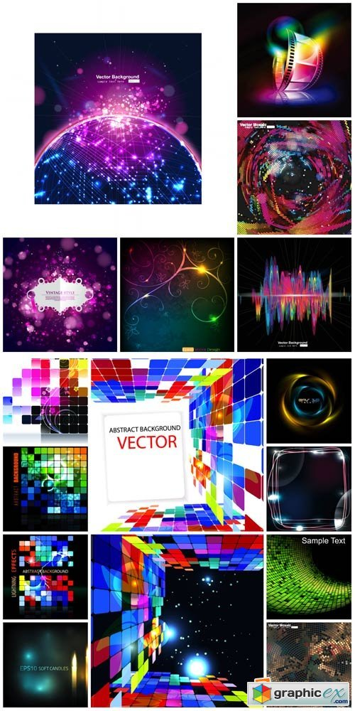 Vector backgrounds with abstraction # 18