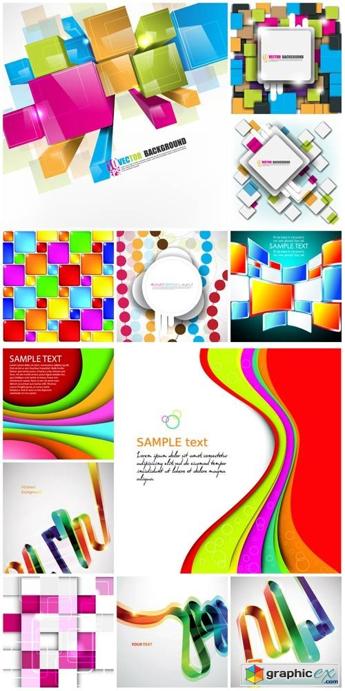 Vector backgrounds with abstraction # 16