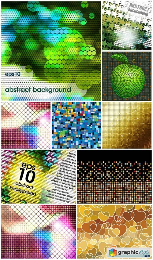 Vector backgrounds with abstraction # 15