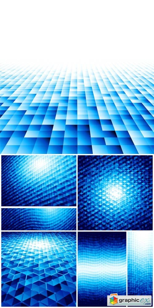 Vector backgrounds, blue abstraction