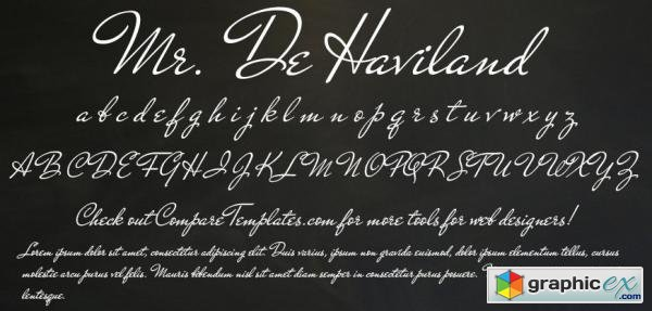 Mr De Haviland Font for $45