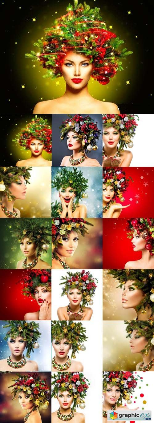 Stock Photos - Christmas Winter Woman