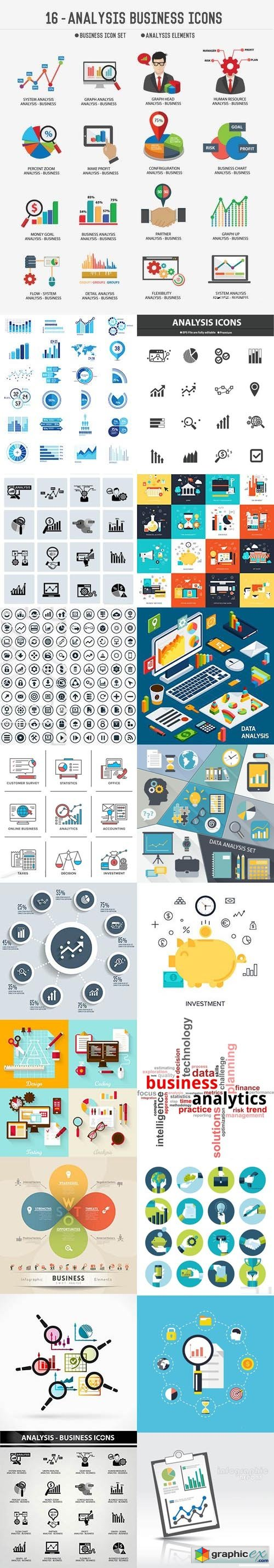 Business Analysis Icons