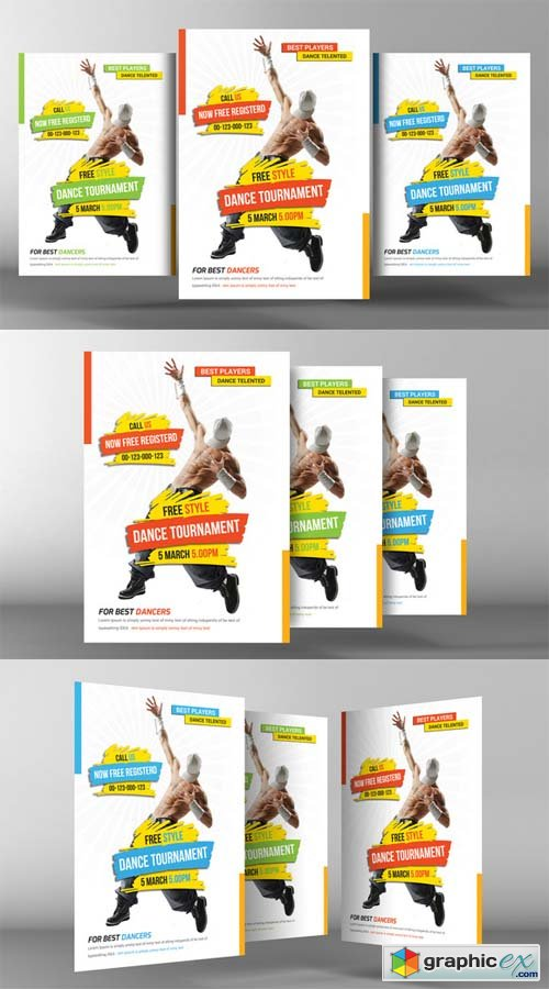 Street Dance Flyer Template Free Download Vector Stock Image
