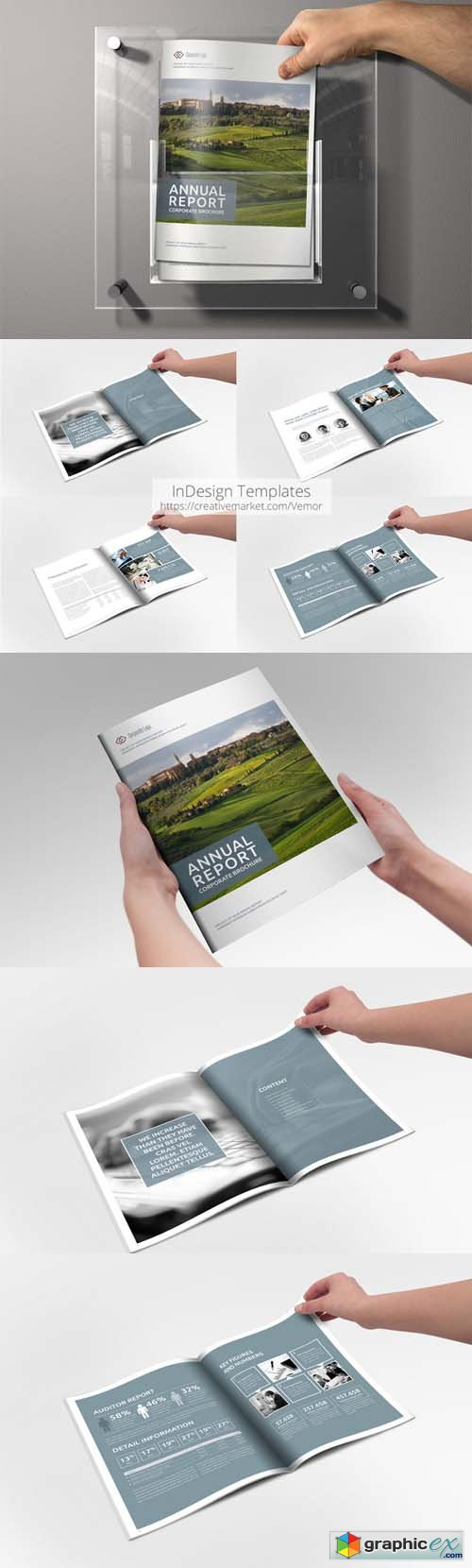 Annual Report Sharp InDesign Template