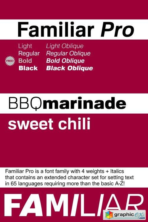 Familiar Pro Font Family $50 » Free Download Vector Stock