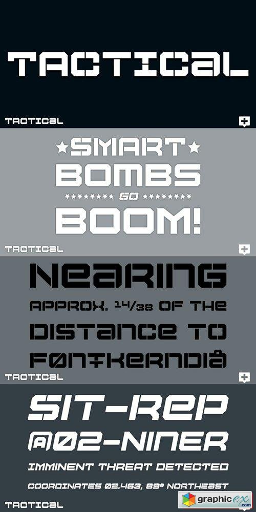 Tactical Font Family $56