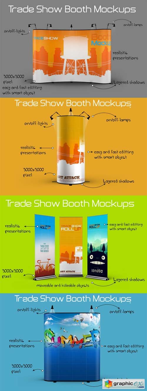 Trade Show Booth Mockups » Free Download Vector Stock Image